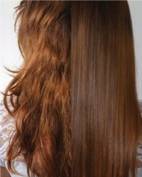 keratin treatment on redhead - rumors scottsdale hair salon