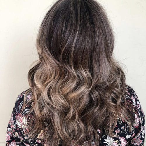 Rumors Salon Brown Color Balayage Styled